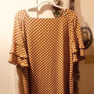 Petal Dot Bell scuff Dress